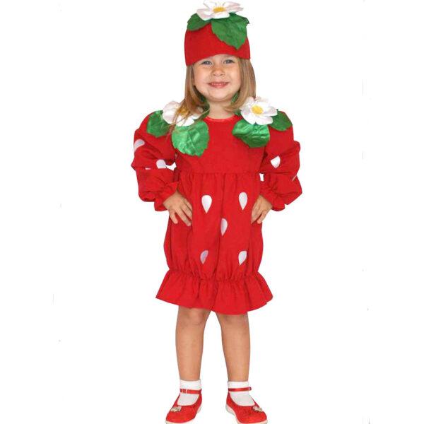 Карнавальный костюм Клубничка  Одежда и аксессуары для детей